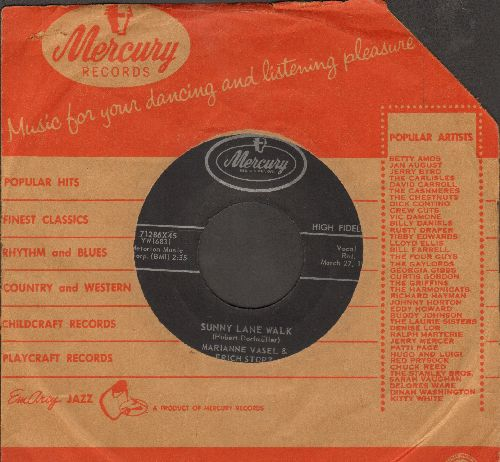 Vasel, Marianne & Erich Stolz - Sunny Lane Walk/The Little Train (die kleine Bimel-Bahn) (US Pressing with Mercury company sleeve, sung in German) - NM9/ - 45 rpm Records