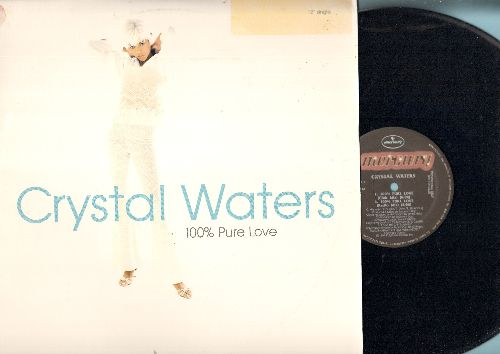 Waters, Crystal - 100% Pure Love - 12 inch 33rpm vinyl Maxi Single featuring 4 Extended Dance Club Versions of hit, with Mercury Maxi cover, DJ advance pressing) - NM9/EX8 - Maxi Singles