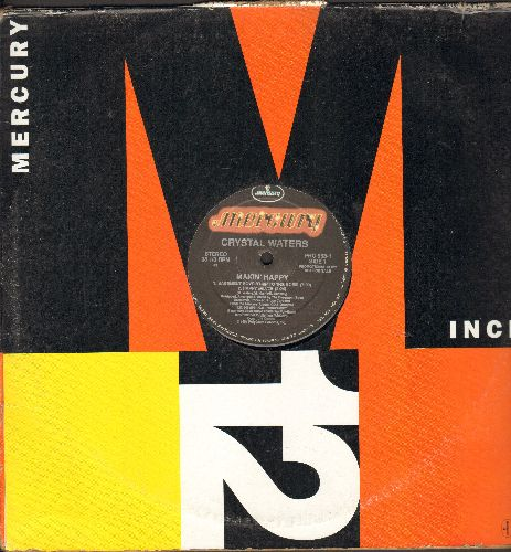 Waters, Crystal - Makin' Happy - 12 inch 33rpm vinyl Maxi Single featuring 4 Extended Dance Club Versions of hit, with Mercury Maxi cover) - NM9/ - Maxi Singles