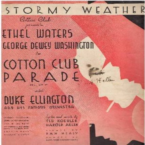 Waters, Ethel, Lena Horne - Stormy Weather - Vintage SHEET MUSIC for the song that was to become Lena Horne's signature tune. (This is SHEET MUSIC, not any other kind of media!) - VG7/ - Sheet Music
