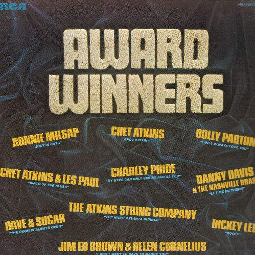 Pride, Charley, Dolly Parton, Dickey Lee, Ronnie Milsap, others - Award Winners: I Will Always Love You, Rocky, Birth Of The Blues (vinyl STEREO LP record) - NM9/NM9 - LP Records