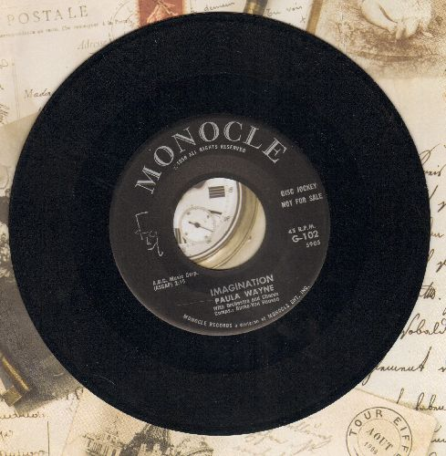 Wayne, Paula - Imagination/And Then Some (RARE 1958 first pressing) - EX8/ - 45 rpm Records