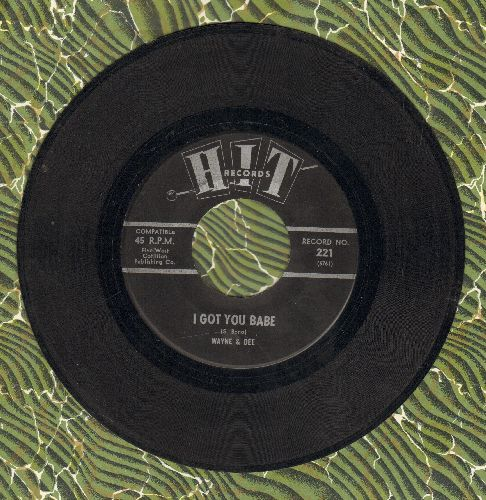 Wayne & Dee - I Got You Babe/Eve Of Destruction (by The Roamers on flip-side) - VG7/ - 45 rpm Records