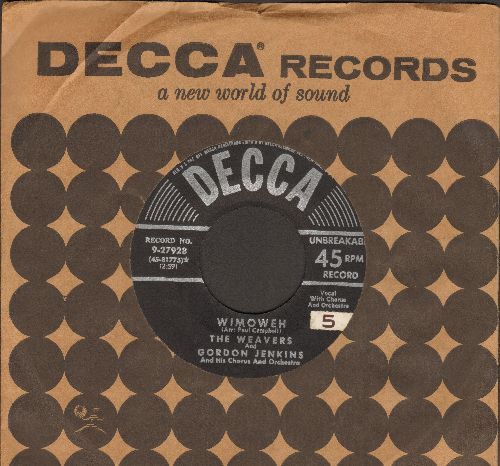 Weavers - Wimoweh/Old Paint (with vintage Decca company sleeve) - EX8/ - 45 rpm Records