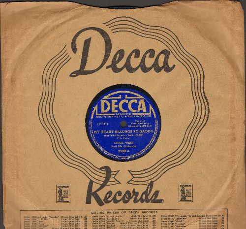 Fitzgerald, Ella with Chick Webb & His Orchestra - My Heart Belongs To Daddy/It's Foxy (10 inch 78 rpm record with Decca company sleeve) - EX8/ - 78 rpm