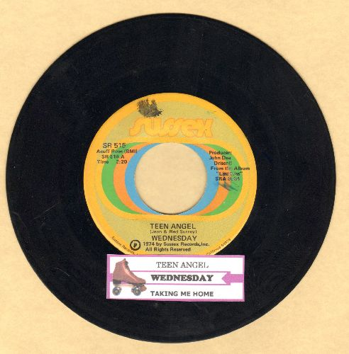Wednesday - Teen Angel/Taking Me Home (with juke box label) - EX8/ - 45 rpm Records