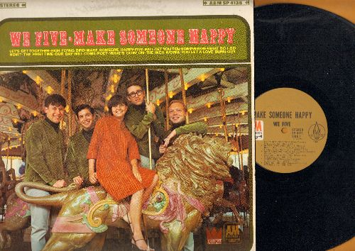 We Five - Make Someone Happy: Let's Get Together, Our Day Will Come, What's Goin' On, Somewhere (Vinyl STEREO LP record) - EX8/EX8 - LP Records