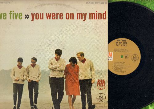 We Five - You Were On My Mind: Somewhere Beyond The Sea, My Favorite Things, Softly As I Leave You (Vinyl STEREO LP record) - EX8/VG6 - LP Records