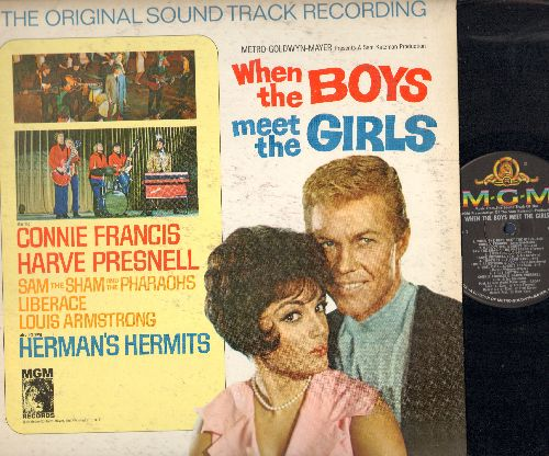 Francis, Connie, Herman's Hermits, Louis Armstrong & others - When The Boys Meet The Girls: Original Sound Track of the Motion Picture - VG7/VG7 - LP Records