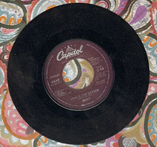 Sweet - Love Is Like Oxygen/Cover Girl  - VG7/ - 45 rpm Records