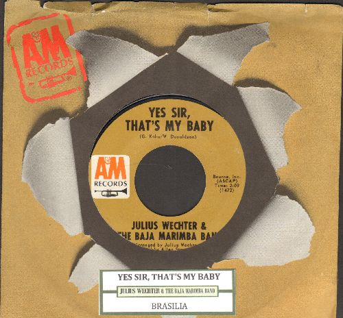 Wechter, Julius & The Baja Marimba Band - Yes Sir, That's My Baby/Brasilia (with A&M company sleeve) - NM9/ - 45 rpm Records