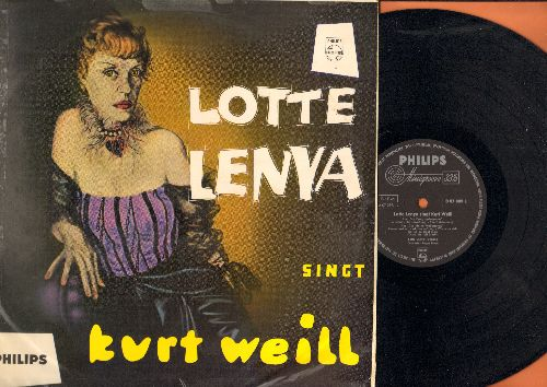 Lenya, Lotte - Lotte Lenya Singt Kurt Weill: Moritat, Bilbao Song, Havanna-Lied, Ich bin eine arme Verwandte, Was die Herren Matrosen sagen (vinyl MONO LP record, German Pressing, sung in German, near mint vinyl, rough cover) - NM9/G5 - LP Records