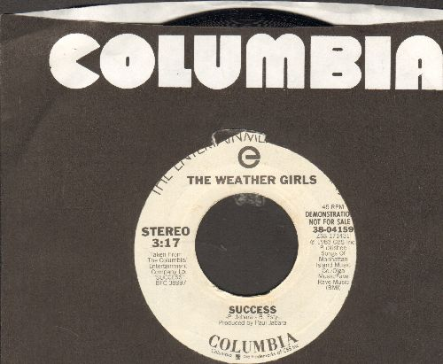 Weather Girls - Success (double-A-sided DJ advance pressing with Columbia company sleeve) - NM9/ - 45 rpm Records