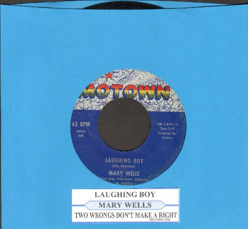 Wells, Mary - Two Wrongs Don't Make A Right/Laughing Boy (with juke box label) - VG7/ - 45 rpm Records