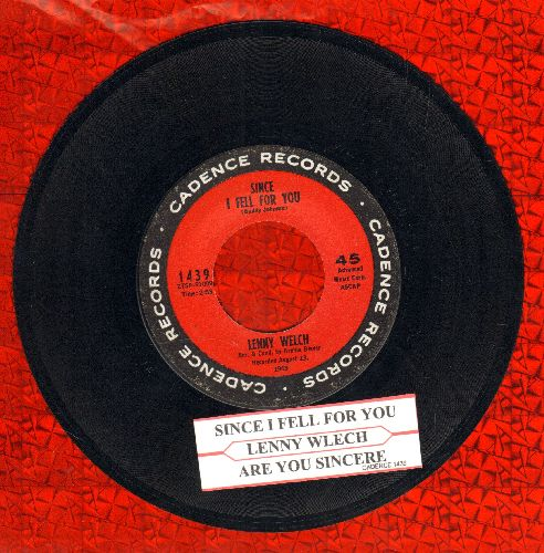 Welch, Lenny - Since I Fell For You/Are You Sincere (with juke box label) - EX8/ - 45 rpm Records