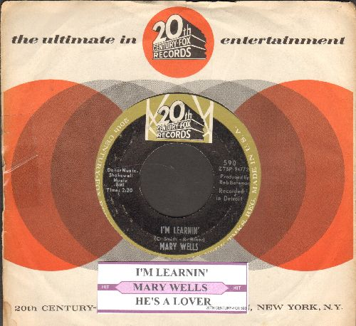 Wells, Mary - I'm Learnin'/He's A Lover (with juke box label and company sleeve) - NM9/ - 45 rpm Records