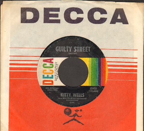 Wells, Kitty - Guilty Street/Shape Up Or Get Out (with Decca company sleeve) - EX8/ - 45 rpm Records