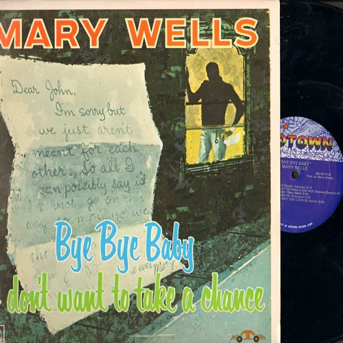 Wells, Mary - My Guy: Bye Bye Baby, Shop Around, Bad Boy, Please Forgive Me, Come To Me (Vinyl MONO LP record, re-issue of vintage recordings) - M10/EX8 - LP Records