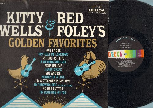 Wells, Kitty & Red Foley - Golden Favorites: One By One, Candy Kisses, I'm Throwing Rice, You And Me, Make Believe (Vinyl MONO LP record) - NM9/NM9 - LP Records