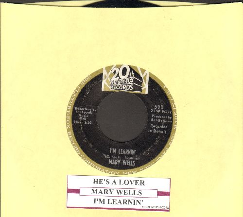 Wells, Mary - I'm Learnin'/He's A Lover (with juke box label) - EX8/ - 45 rpm Records