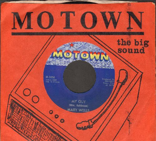 Wells, Mary - My Guy/Oh Little Boy (What Did You Do To Me) (with RARE vintage Motown company sleeve) - NM9/ - 45 rpm Records