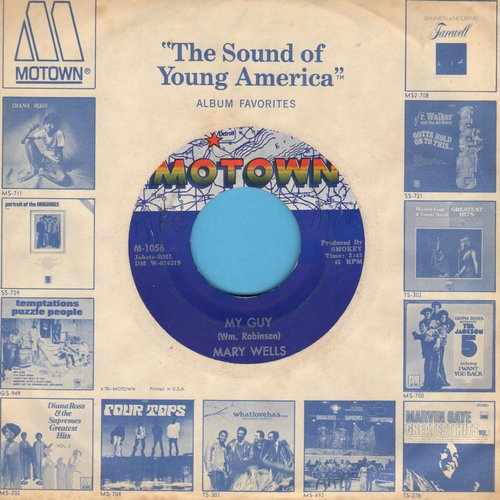 Wells, Mary - My Guy/Oh Little Boy (What Did You Do To Me) (with Motown company sleeve) - EX8/ - 45 rpm Records