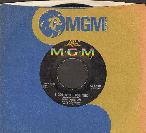Weston, Kim - I Got What You Need/Someone Like You (bb) - VG6/ - 45 rpm Records
