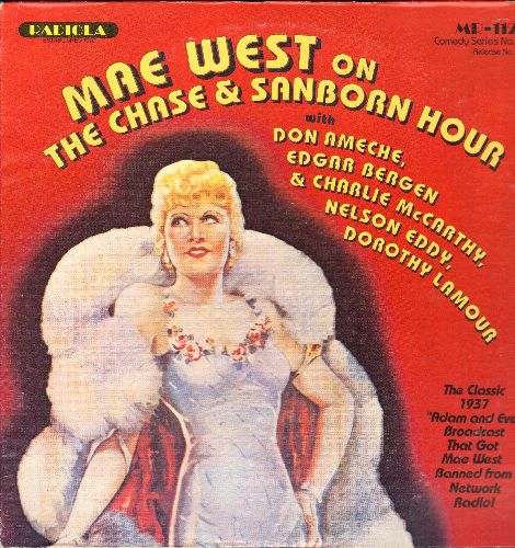 West, Mae - Mae West On The Chase & Sanborn Hour - The Clssic 1937 Adam & Eve Broadcast that got Mae West banned from Network Radio! (vinyl LP record) - NM9/EX8 - LP Records