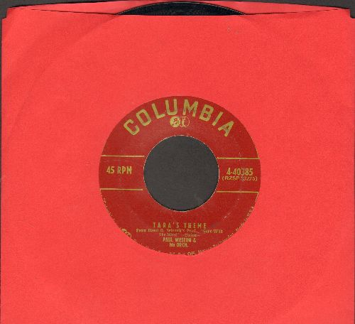 Weston, Paul & His Orchestra - Tara's Theme (Gone With The Wind)/Love Letters - NM9/ - 45 rpm Records