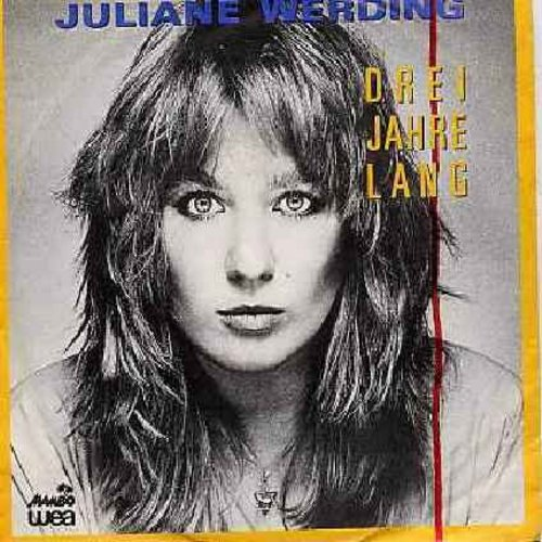 Werding, Juliane - Drei Jahre lang/Spur des Mondlichts (German Pressing with picture sleeve, sung in German) - NM9/EX8 - 45 rpm Records