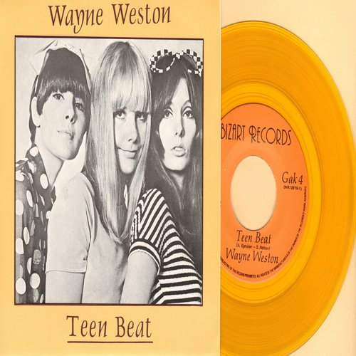 Weston, Wayne - Teen BeatFreetown (yellow vinyl pressing with picture sleeve) - M10/M10 - 45 rpm Records