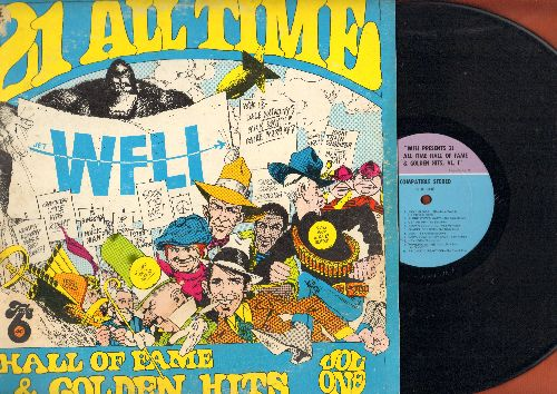 Fred, John & His Playboy Band, Casinos, Brenton Wood, others - WFLI Presents 21 All Time Hall Of Fame & Golden Hits, VL.I: Brown Eyed Girl, Summer In The City, Chapel Of Love, Lies, more! (vinyl LP record) - EX8/VG6 - LP Records