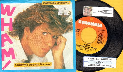 Wham! - Careless Whisper/Careless Whisper (Instrumehntal) (with juke box label and picture sleeve) - NM9/EX8 - 45 rpm Records