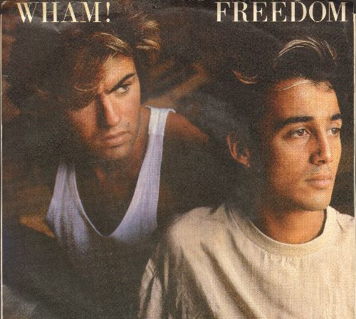 Wham! - Freedom/Heartbeat (with picture sleeve) - NM9/EX8 - 45 rpm Records