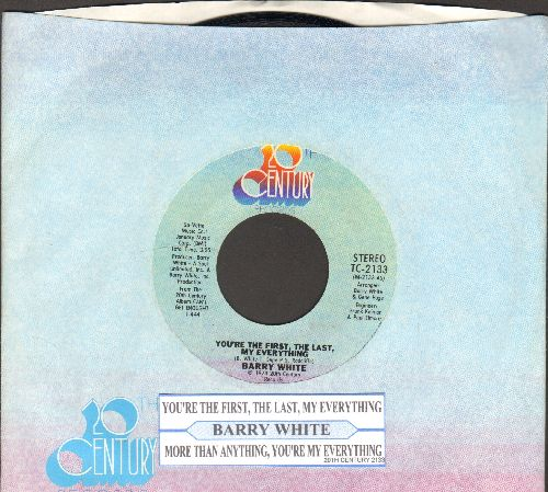 White, Barry - You're The First, The Last, My Everything/More Than Anthing You're My Everything (with juke box label and company sleeve) - NM9/ - 45 rpm Records
