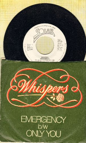 Whispers - Emergency (double-A-sided DJ advance pressing with picture sleeve) - VG7/ - 45 rpm Records