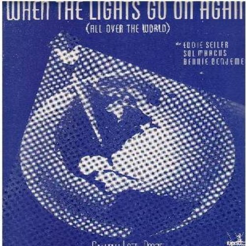 When The Lights Go On Again - When The Lights Go On Again (All Over The World) - Vintage SHEET Music for the WWII Classic, NICE cover art ondition! (This is SHEET MUSIC, not any other kind of media!) - NM9/ - Sheet Music