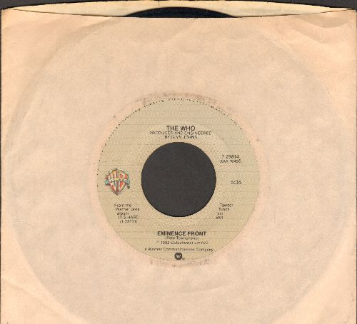 Who - Eminence Front/One At A Time (with Warner Brothers company sleeve) - VG7/ - 45 rpm Records