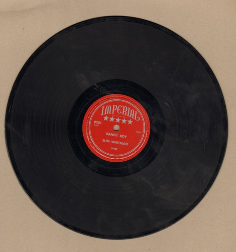 Whitman, Slim - Danny Boy/There's A Rainbow In Every Teardrop (10 inch 78 rpm record) - EX8/ - 78 rpm