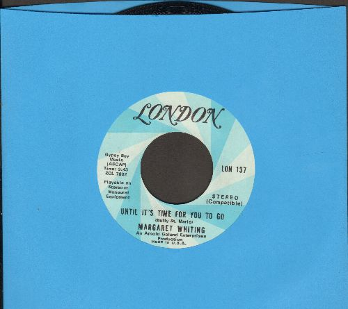 Whiting, Margaret - Until It's Time For You To Go/I'll Tell Him Today - NM9/ - 45 rpm Records