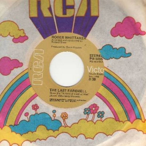 Whittaker, Roger - The Last Farewell (For You Are Beautiful)/Paradise (with RCA company sleeve) - NM9/ - 45 rpm Records