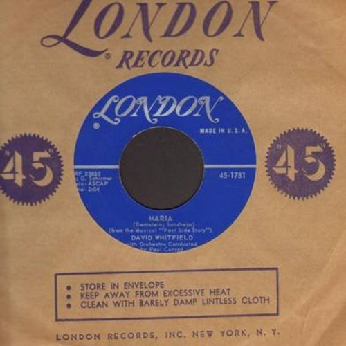 Whitfield, David - Maria/My One True Love (with vintage London company sleeve) - NM9/ - 45 rpm Records