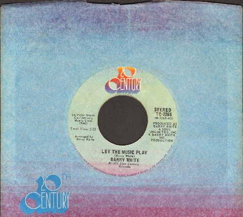 White, Barry - Let The Music Play/Let The Music Play (Instrumental) - NM9/ - 45 rpm Records
