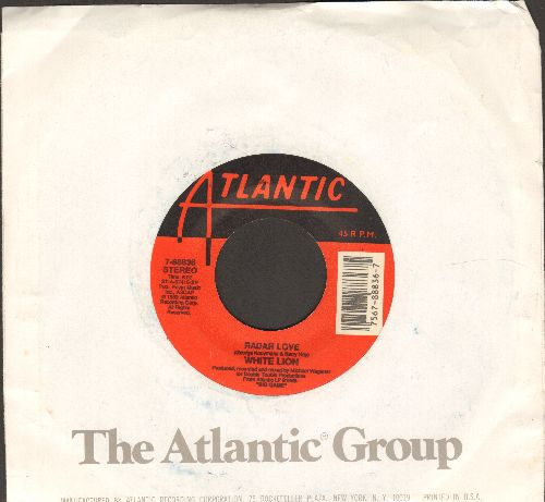 White Lion - Radar Love/If My Mind Is Evil (with Atlantic company sleeve) - VG7/ - 45 rpm Records