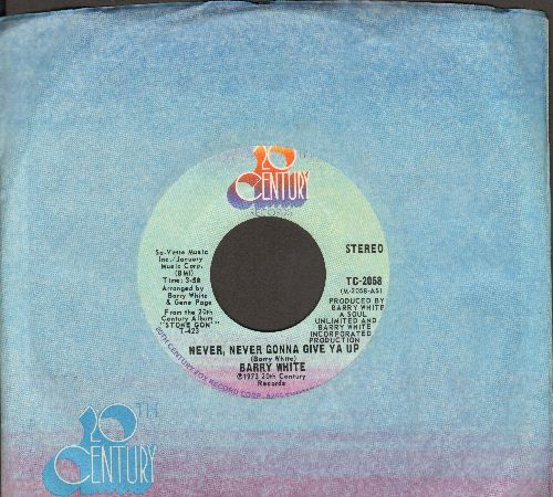White, Barry - Never Never Gonna Give Ya Up (long and short version) - NM9/ - 45 rpm Records
