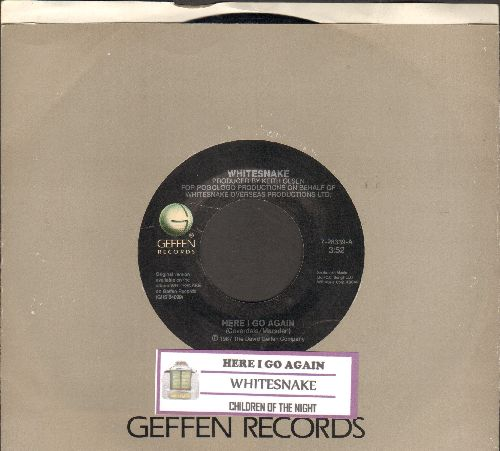 Whitesnake - Here I Go Again/Children Of The Night (with juke box label and company sleeve) - EX8/ - 45 rpm Records