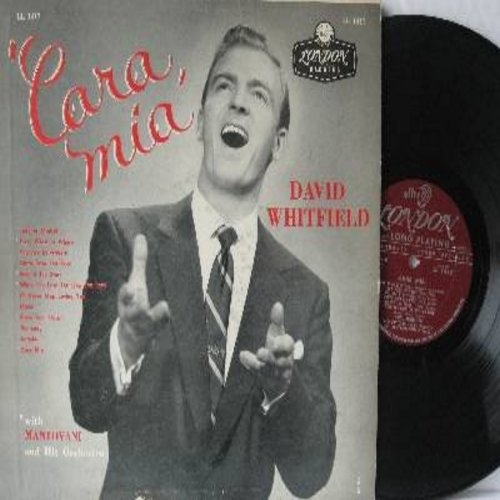 Whitfield, David - Cara Mia: Lady Of Madrid, Beyond The Stars, Mama, Open Your Heart, I'll Never Stop Loving You (Vinyl MONO LP record, maroon label) - VG7/VG7 - LP Records