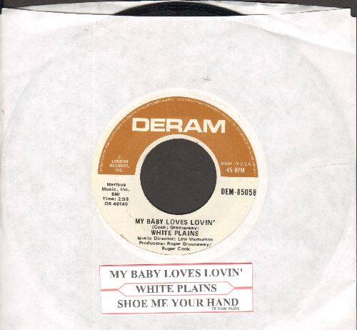 White Plains - My Baby Loves Lovin'/Show Me Your Hand (with juke box label) - EX8/ - 45 rpm Records