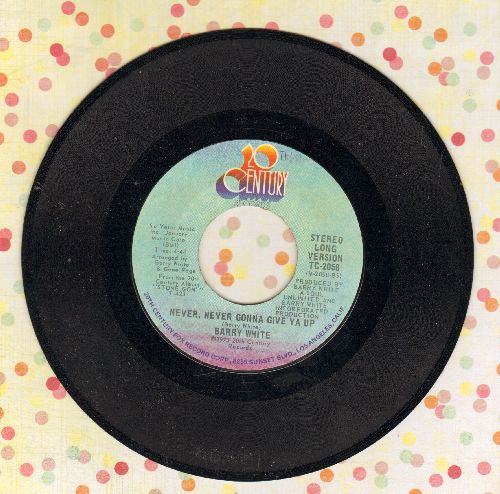 White, Barry - Never Never Gonna Give Ya Up (long and short version) - EX8/ - 45 rpm Records