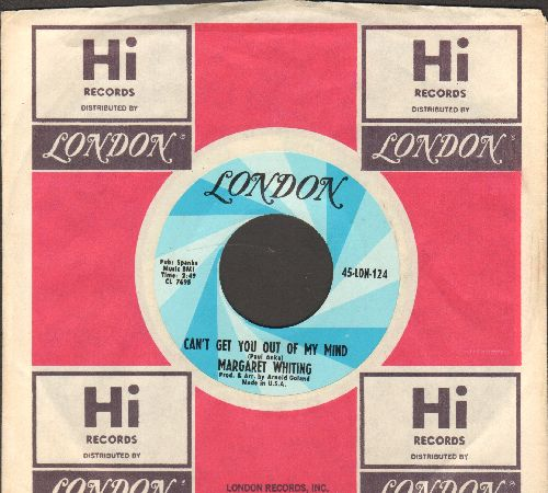 Whiting, Margaret - Maybe Just One More/Can't Get You Out Of My Mind (with London company sleeve)  - NM9/ - 45 rpm Records